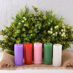 Kit Especial Coroa do Advento e Natal 5 Velas 6x14cm