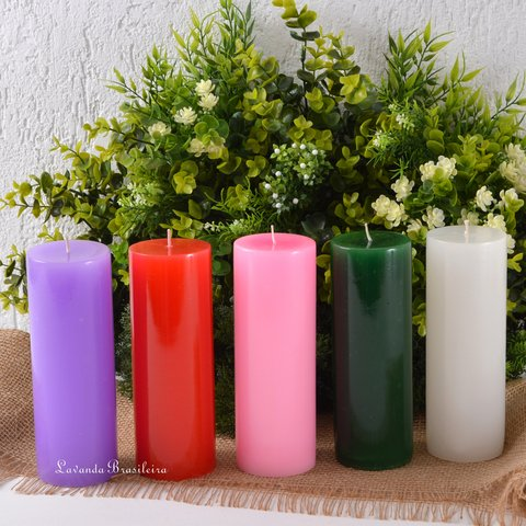 Kit Especial Coroa do Advento e Natal 5 Velas 7x19cm