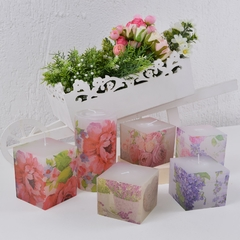 Vela Quadrada BOUQUET Decoupage