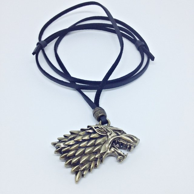 Colar Masculino Couro Game Of Thrones Escudo Legend Of Zelda - loja online