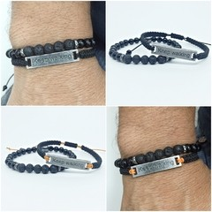 Kit 2 Pulseiras Masculinas Keep Walking Continue Caminhando na internet