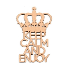 DIX LASER FRASES KEEP CALM AND ENJOY 0133-10CM