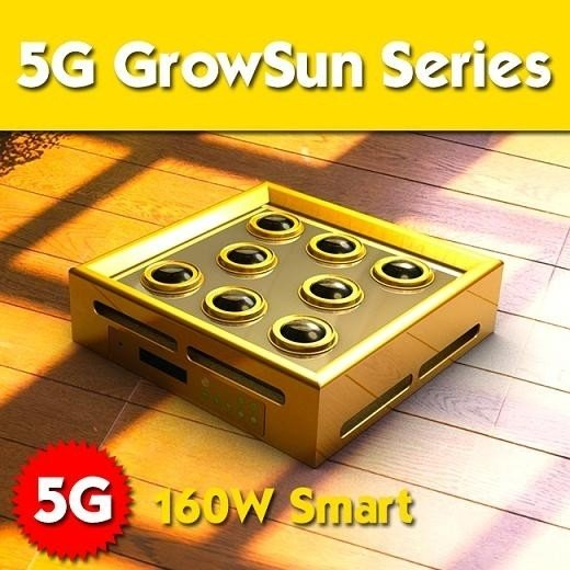 5G - GrowSun Series 160W - LED Grow Light 12 bands - E. Shine systems