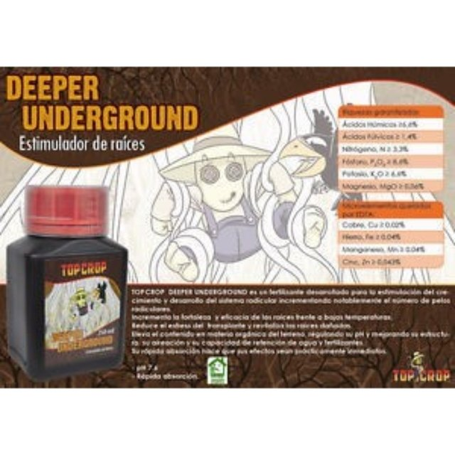 Fertilizante TOP CROP - DEEPER UNDERGROUND - 250ML - flordosul