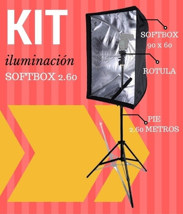 Kit de Iluminación (Softbox 2.6)