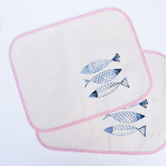 Individuales Estampa Peces - Patch-In by Gaby Caporale