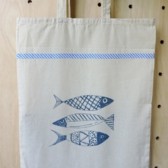 Tote Bag Natural Peces - comprar online