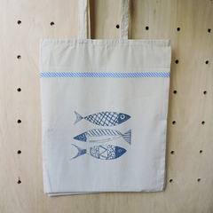 Tote Bag Natural Peces