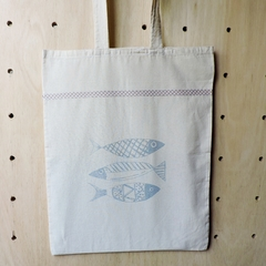 Tote Bag Natural Peces en internet