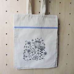Tote Bag Natural Tulipanes - Patch-In by Gaby Caporale