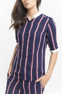 Camisa AMELIE Rayada - LeTIEND |  by GIACCA