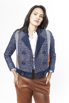 Chaqueta ARIZONA Azul Reversible - LeTIEND |  by GIACCA