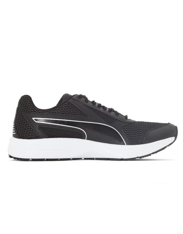 ZAPATILLAS PUMA ESSENTIAL RUNNER NEGRO PLATA (1119071706) en internet