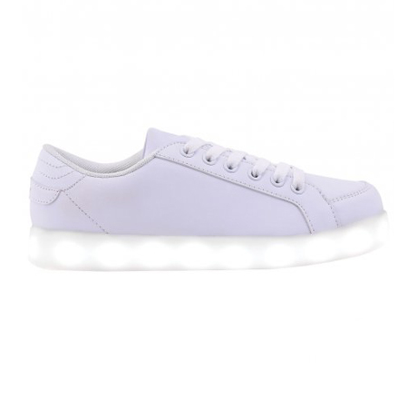 ZAPATILLAS FOOTY MILKY WAY LED BLANCA (FXL52)