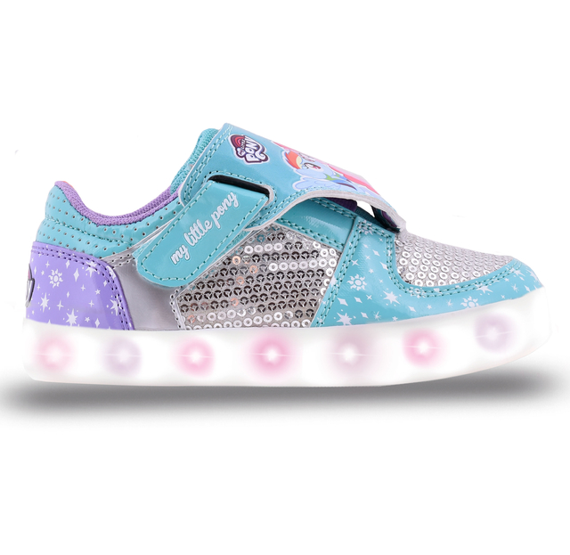 ZAPATILLAS FOOTY REVERSIBLE LITTLE PONY TURQUESA BLANCO (LPX212)