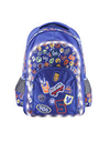 MOCHILA FOOTY EMOTICONES LED AZUL 18 (F683AZ)