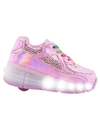ZAPATILLAS FOOTY BRIGHT DOTS RUEDAS LED ROSA (FXR27)