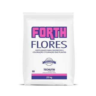 Fertilizante Forth Flores 25kg rende 500m²