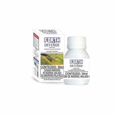 Inseticida Natural Forth Defende óleo de neem 30ml rende 1 litro