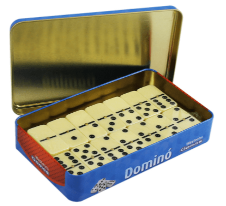 DOMINO 49X24X9MM COM ESTOJO DE LATA