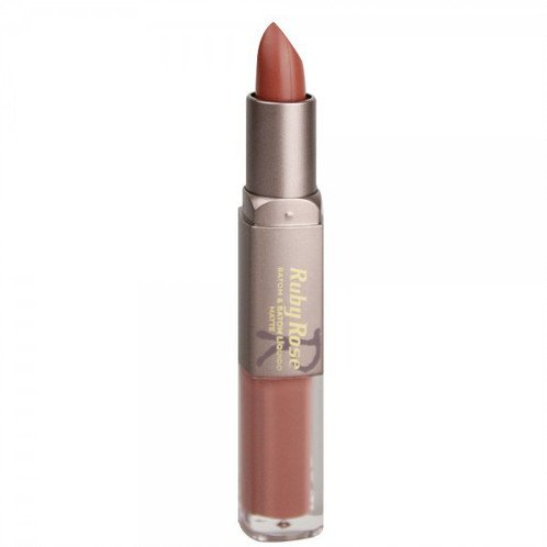 RUBY ROSE Batom Duo Matte HB8606 - Cor 242