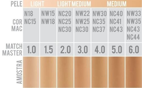 Base Matchmaster Spf 15 Foundation - Cor 6.0 - Beauty Day Cosméticos