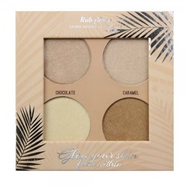 RUBY ROSE Paleta de Iluminador Glow Your Skin HB-7500 Light na internet