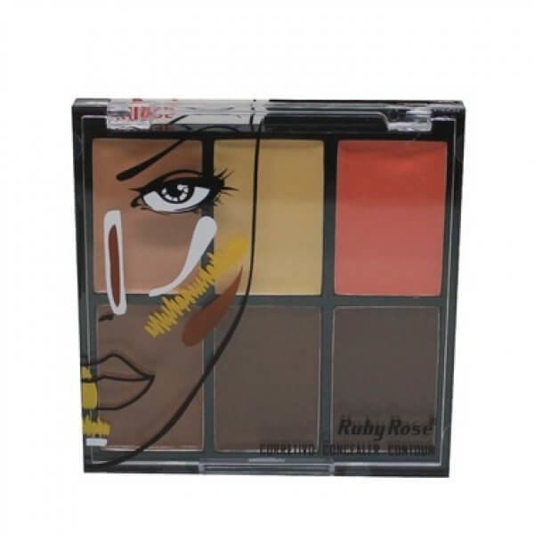 RUBY ROSE Paleta de Corretivos 6 Cores HB-8088 - Medium na internet