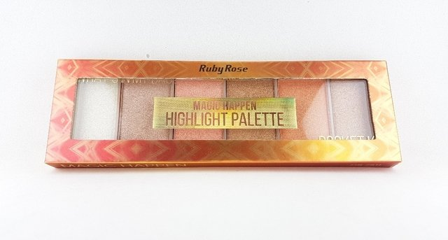 RUBY ROSE Paleta de Iluminador em Pó Magic Happen HB 7511 - comprar online