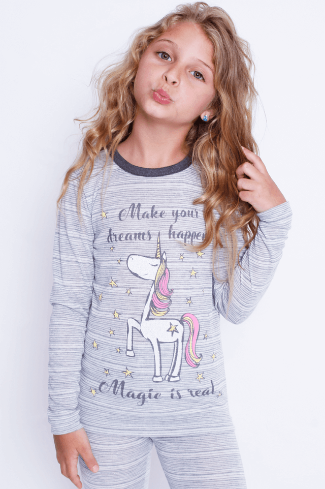 Pijama infantil unicórnio magic - comprar online