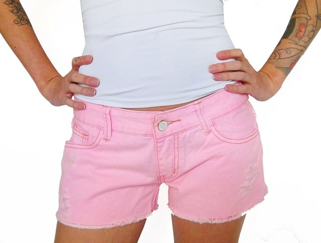 Shorts Jeans Unicórnio Patch - comprar online