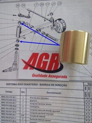BUCHA DA PONTA DE EIXO TRATOR AGRALE 410......