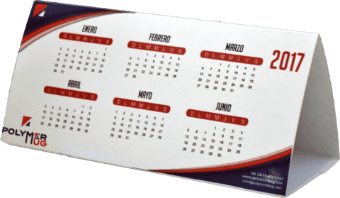 Calendario carpita de cartón sublimable