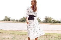 Vestido Salvia -Dots off white - bela