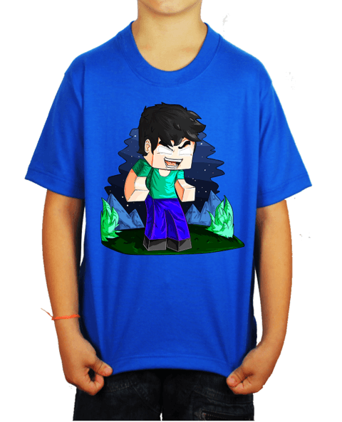 Camiseta - Herobrine - Azul Royal