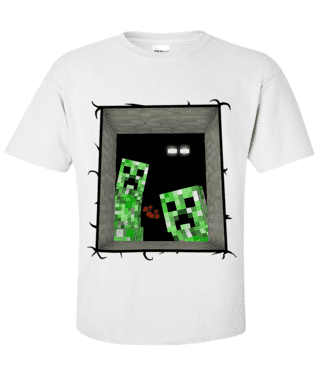 Camiseta - Creeper e Enderman
