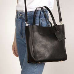 Mini Tote Brent Negro - Cuero Curtido Vegetal - MON BAG.