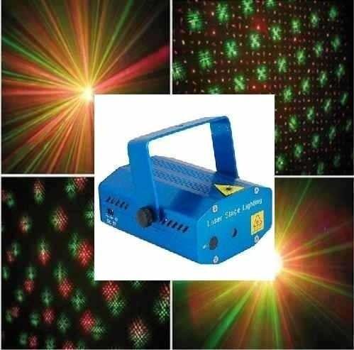 Equipá tu fiesta como corresponde con esta máquina de lluvia laser de color verde y roja