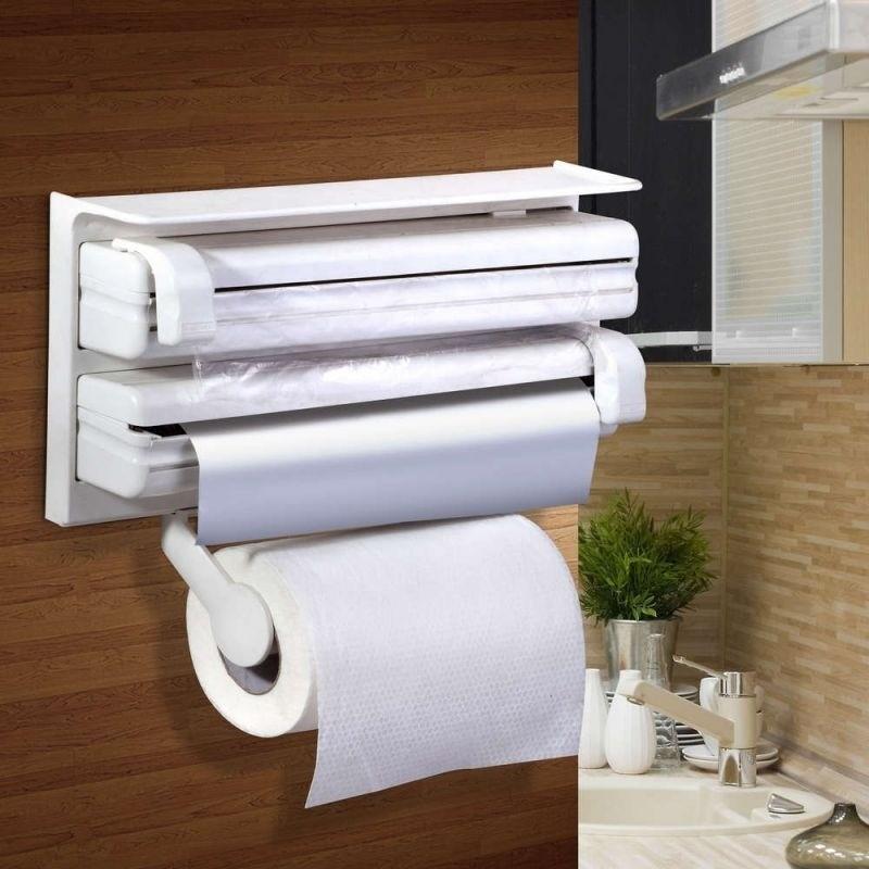Porta Rollo Dispenser Cocina Film Rollo Aluminio Colgante