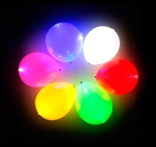 Pack X 5 Globos Luz Led Luminosos Colores Varios Fiestas