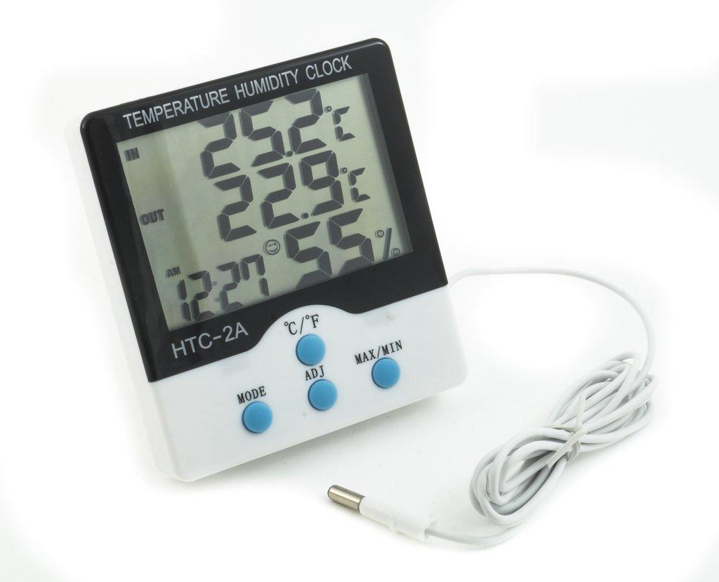 Reloj Higrometro Humedad Termometro Temperatura Htc-2 Sonda