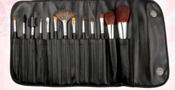 12 Pinceles Y Brochas Maquillaje Profesional Suaves Lavables