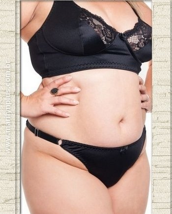 Calcinha String Lisa Plus Size - Marilyn Plus