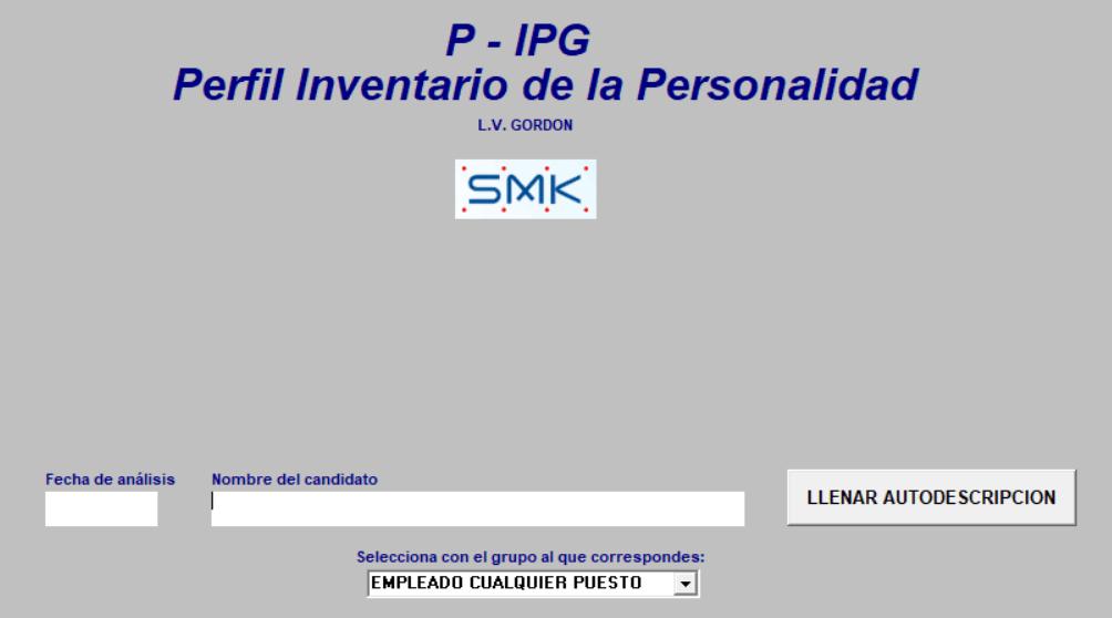 Inventario De La Personalidad De Gordon Ipg Version Profesional