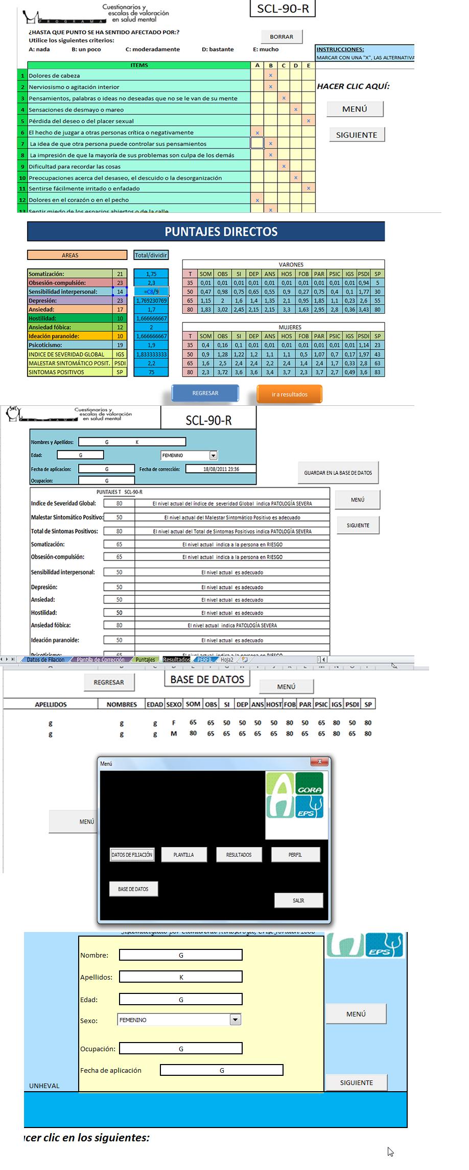 Test Scl90r - Inventario De Sintomas