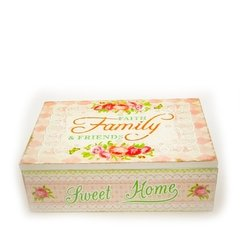 Caja de té 'Faith, family and friends'
