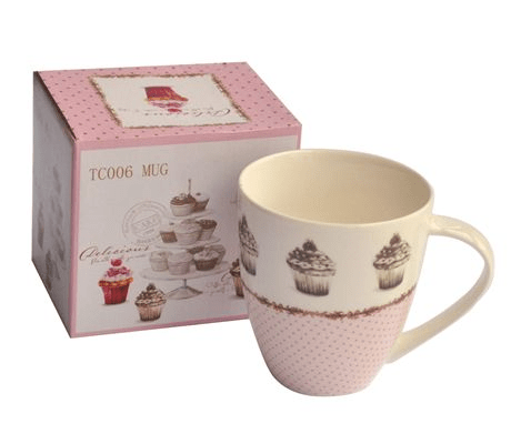 Taza mug 300ml borde puntitos