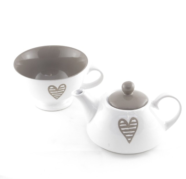 TEA FOR ONE CORAZON GRIS - comprar online