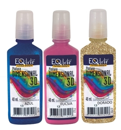Dimensional Color 3D Eq Craft Glitter x 40cc - comprar online