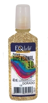 Dimensional Color 3D Eq Arte Glitter x 40cc